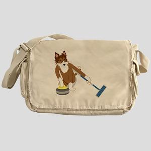 Shetland Sheepdog Curling Messenger Bag