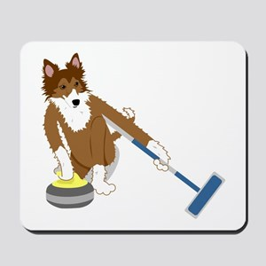 Shetland Sheepdog Curling Mousepad