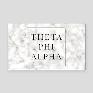Theta Phi Alpha Marble FB Rectangle Car Magnet
