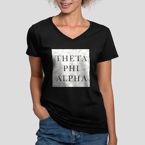 Theta Phi Alpha Marble Women's V-Neck Dark T-Shirt