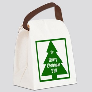 Merry Christmas Yall Canvas Lunch Bag