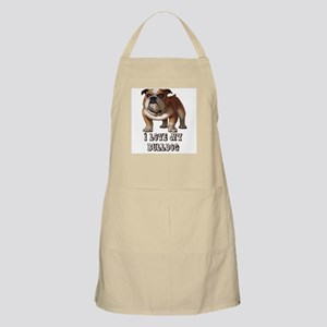 I Love My Bulldog BBQ Apron