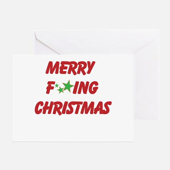 Merry F ing Christmas Greeting Cards