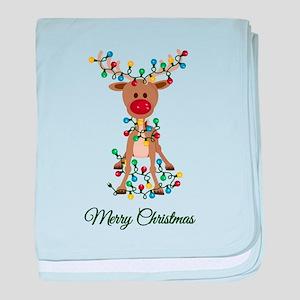 Merry Christmas Reindeer baby blanket