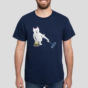 Westie Curling Dark T-Shirt