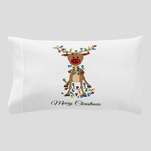 Merry Christmas Reindeer Pillow Case