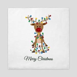 Merry Christmas Reindeer Queen Duvet