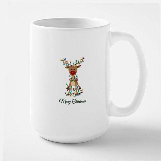 Merry Christmas Reindeer Mugs