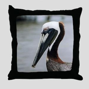 The Pier Pelican Throw Pillow