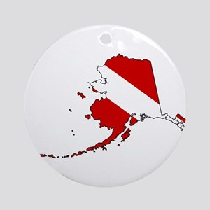 Dive Alaska Ornament (Round)