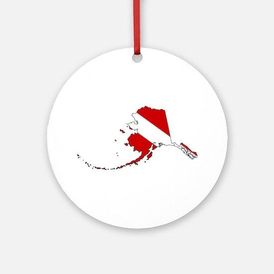Dive Alaska Ornament (Round)