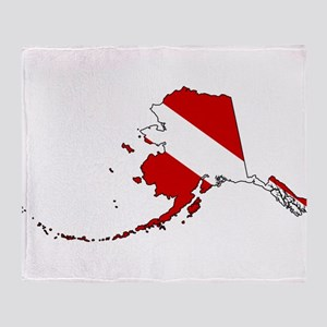 Dive Alaska Throw Blanket