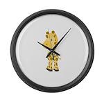 Cute Baby Giraffe Large Wall Clock