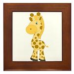 Cute Baby Giraffe Framed Tile