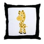 Cute Baby Giraffe Throw Pillow