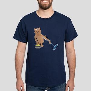 Yorkshire Terrier Curling Dark T-Shirt