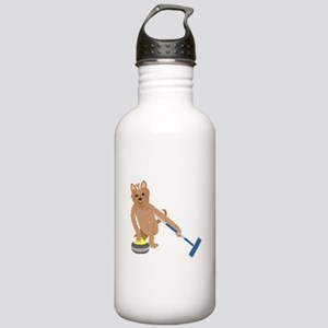 Yorkie Curling Stainless Water Bottle 1.0L