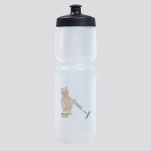 Yorkshire Terrier Curling Sports Bottle