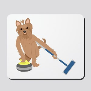 Yorkshire Terrier Curling Mousepad