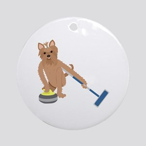 Yorkshire Terrier Curling Ornament (Round)