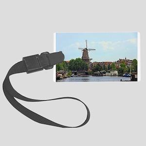 Amsterdam Windmill Large Luggage Tag