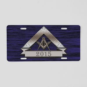 Masters 2015 Aluminum License Plate