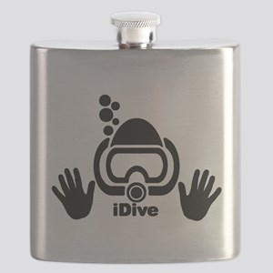 idive wht blk shadow 4dark Flask