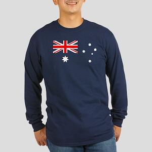 Australia flag transparent Long Sleeve T-Shirt