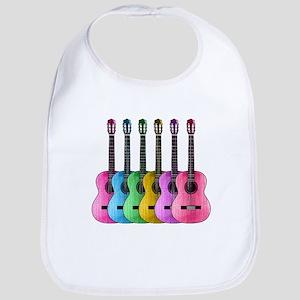 Colorful Guitars Bib