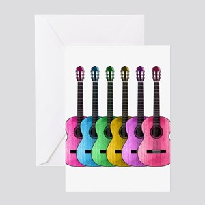Guitar greeting cards cafepress colorful guitars greeting cards m4hsunfo