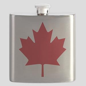 Canada flag Flask