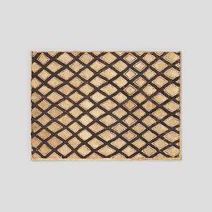 Kub Cloth Tribal Print Rug 5'x7'area Rug