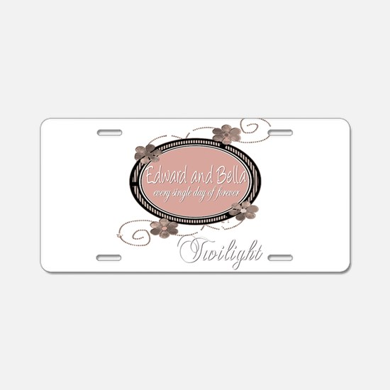 Edward and Bella Collection Aluminum License Plate