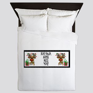 Dear Santa, Maybe Next Year? Queen Duvet