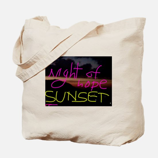 Night of Hope Sunset Tote Bag