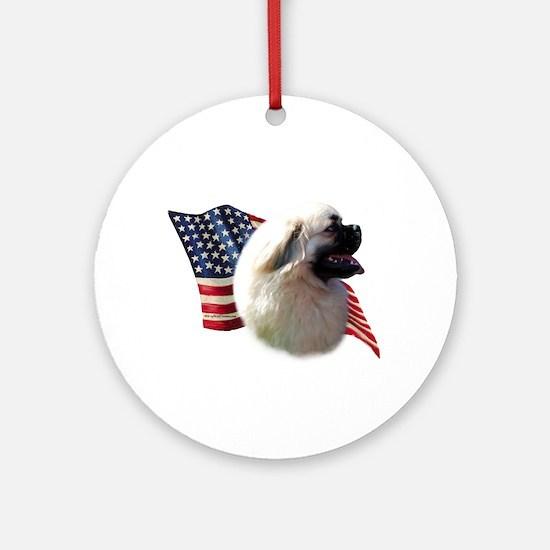 Tibby Flag Ornament (Round)