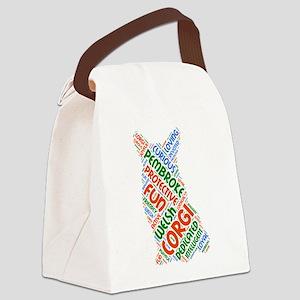 Corgi Silhouette Canvas Lunch Bag