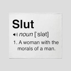 Slut Definition Throw Blanket