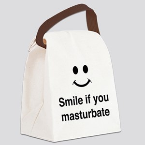 Smile if You Masturbate Canvas Lunch Bag