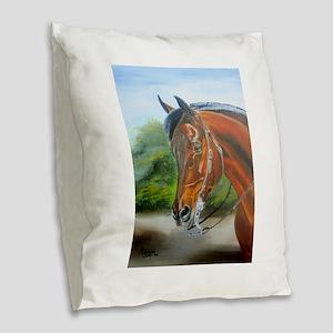 Western Pleasure Morgan Burlap Throw Pillow