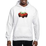 Chocolate Strawberry Hooded Sweatshirt