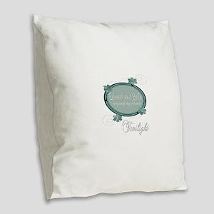 Edward and Bella Collection Burlap Throw Pillow