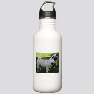 Two fawn Pugs Stainless Water Bottle 1.0L