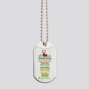 Red Nose Reindeer And Colorful 12 Days Of Dog Tags