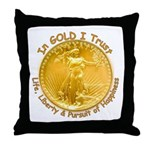 Gold Liberty Gold Motto Throw Pillow