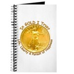 Gold Liberty Gold Motto Journal