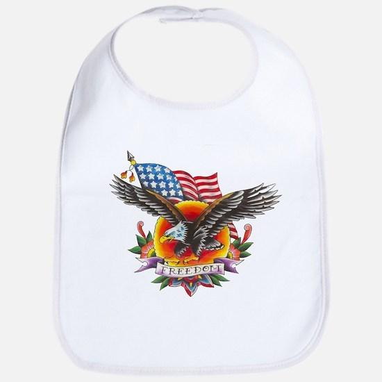 4th of July Screamin' Eagles Bib