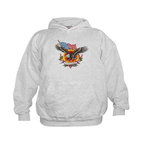 4th of July Screamin' Eagles Kids Hoodie