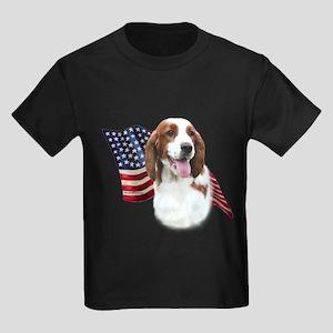 Welsh Springer Flag Kids Dark T-Shirt