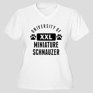University Of Miniature Schnauzer Plus Size T-Shir